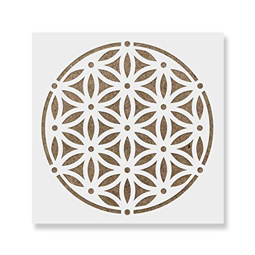 - Sacred Flower of Life Stencil Template for Walls and Crafts - Reusable Stencils for Painting in Small & Large Sizes