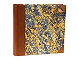 il Torchio - Photo album and box case with cover bound in leather and hand-marbled paper