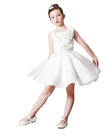 0631f24a5 Amazon.com  Beauty-Emily Flowers Tulle Sleeveless Princess Girls ...