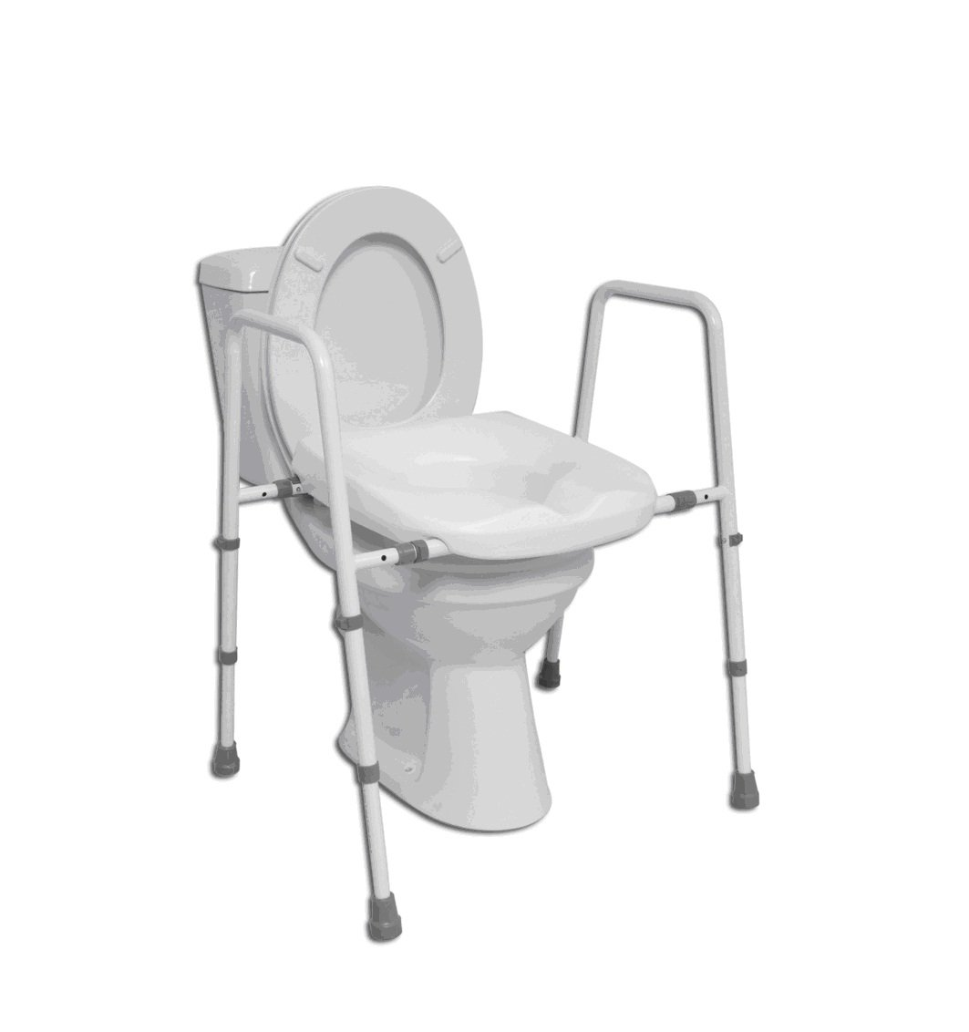uk toilet seat sizes. NRS Healthcare M11089 Mowbray Toilet Seat and Frame Free Standing  WIDTH ADJUSTABLE Eligible for VAT relief in the UK Amazon co uk Health Personal