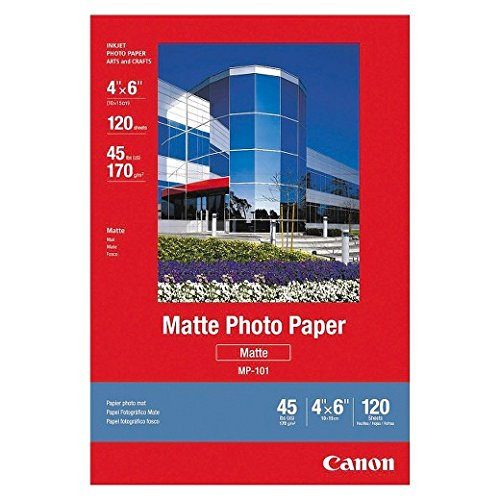 Canon Matte Paper, 4x6 Inches,120 Sheets, 2 Packs