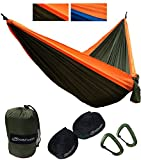 JoshNAh Lightweight Double Camping Hammock Set with Heavy Duty Tree Straps and Carabiners for Backpacking, Camping, Travel, Beach, Yard