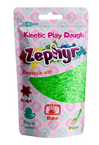Zephyr, Kinetic Play-Dough in Doy Pack (Green) Kinetic plasticine Modeling Clay Polymer Clay Could be Baked ...