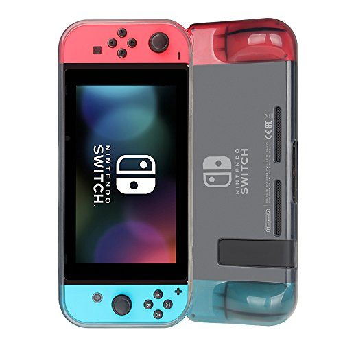 Nintendo Switch Case, Fintie [Translucent Frosted] Shock Absorption Anti-Scratch Soft TPU Clear Protective Case Cover for Nintendo Switch Console & Joy-Con Controller, Smoke
