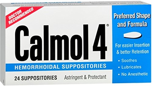 Calmol 4 Hemorrhoidal Suppositories 24 Each (Pack of 10) by Calmol 4