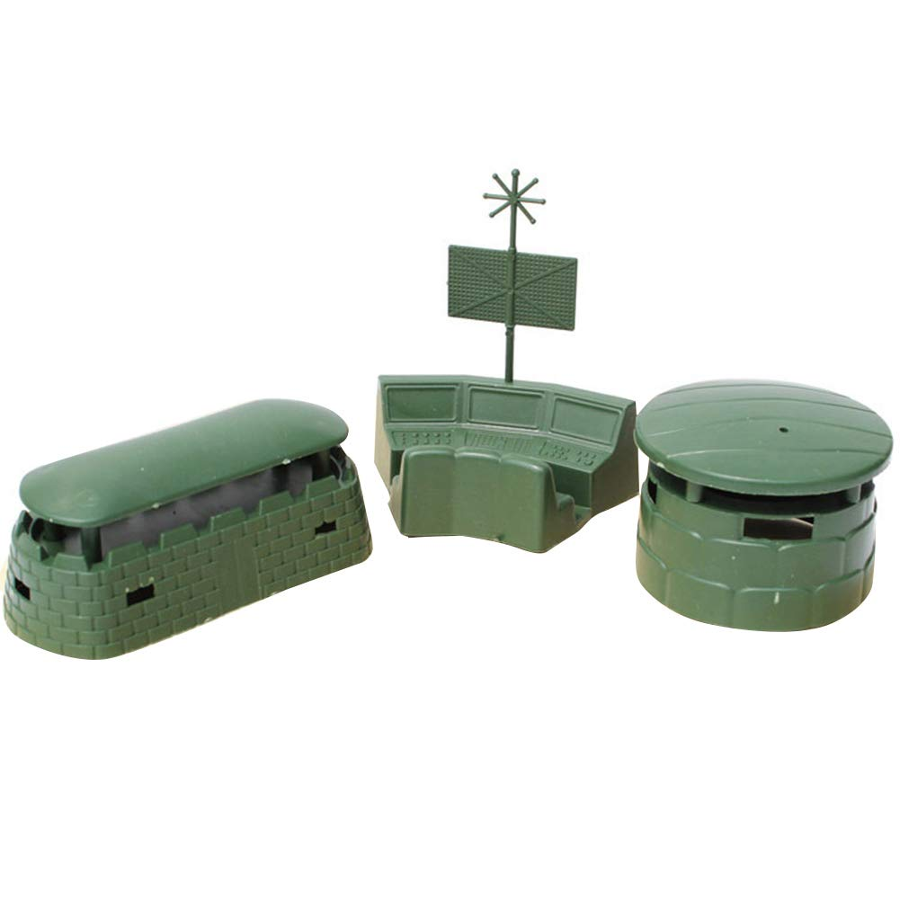 Everrikle Children Early Education Toys 3Pcs/Set Military Base War Scene Assembly Blockhouse Bunker Children Kids Toy ?,A Creative and Educational Toys,Tested for Children's Safety