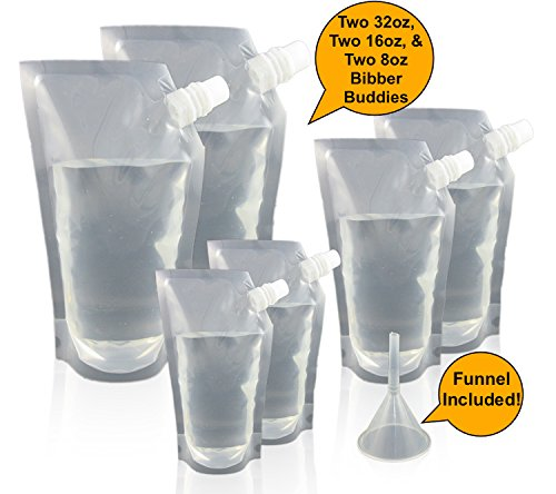 Bibber Buddy Plastic Concealable Flasks - The Ultimate Cruise Kit - Hidden Alcohol Flasks for Cruise Ships, Camping, Road Trips, Resorts, and More! Smuggle Booze Anywhere! Great Travel - Booze Cruise Buddy
