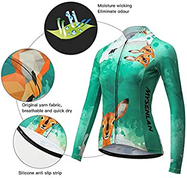 Mysenlan Women/'s Cycling Jersey Pants Sets Long Sleeve Bicycle Wear Clothing