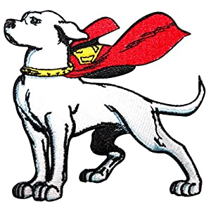 Athena DC Comics Krypto The Super Dog Embroidered Iron/Sew-on Applique Patches
