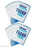 20 Pack of Funny Humorous 'Massive Massive Thank You!' Cards