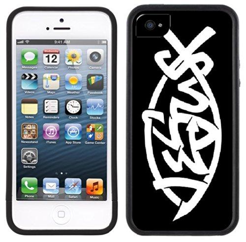 Jesus Fish   Christlich   Handgefertigt   iPhone 5 5s   Schwarze Hülle