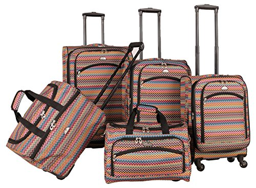 american-flyer-gold-coast-5-piece-spinner-luggage-set-pink-one-size