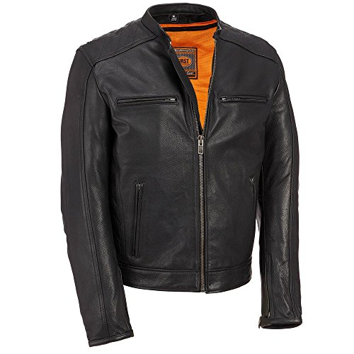 Wilsons Leather Mens Performance Leather Motorcycle Jacke...