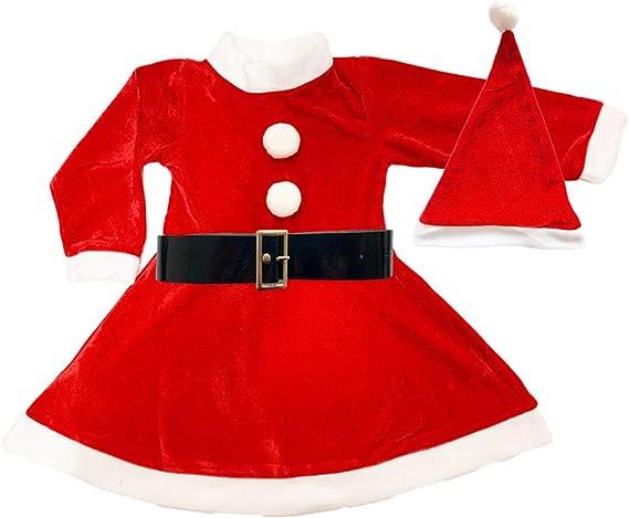 Disfraz de Mama Noel para Niña - Vestido,Gorro y cinturón para ...