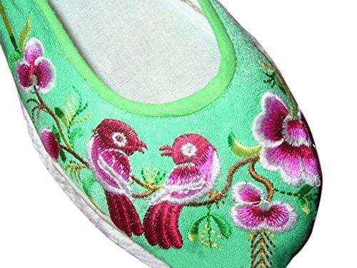 100% Handgemachte Bestickte Schuhe Wertvolle Chinesische Stickereikunst #117