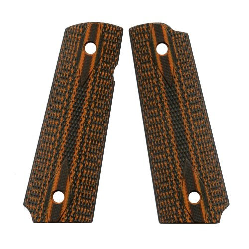 VZ Grips Double Diamond Compact Size 1911 Gun Grip, Tiger Stripe