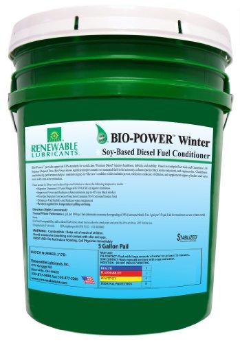 Renewable Lubricants Bio-Power Winter Diesel Fuel Conditioner, 5 Gallon Pail by Renewable Lubricants