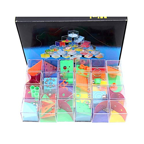 Pkjskh 24 Sets of Decompression Game Box Children Balance Labyrinth Box Creative Personality Educational Toy Set Game Decompression Balance Toy Fun Puzzle Box Toy (Color : Regular Edition) ()