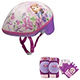 Disney Sofia the First Princess Girls Skate / Bike Helmet, Pads & Gloves - 7 Piece Set