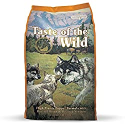 Taste of the Wild High Prairie Grain Free Protein Real Meat Recipe Natural Dry Puppy Food with Real Roasted Venison & Bison 15lb
