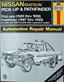 img - for Nissan Pick-Ups Automotive Repair Manual: Nissan/Datsun Pickups 1980 Through 1996/Pathfinder 1987 Through 1995 (Hayne's Automotive Repair Manual) by Rik Paul (1996-09-01) book / textbook / text book