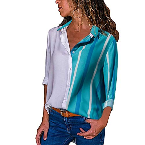 Camicia Blusa Scollo Felpa Lunga Top T Giacca Pullover Elegante Maglia G199 Donna Moda Tumblr Cappuccio Sexy Magliette Weant Shirt Manica Bottone V qwa8OYx0w