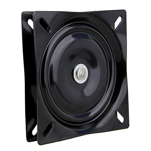 Yibuy 6.5 inch A3 Steel Black Ball Bearing Square Swivel Plate Chair Swivel Turntable