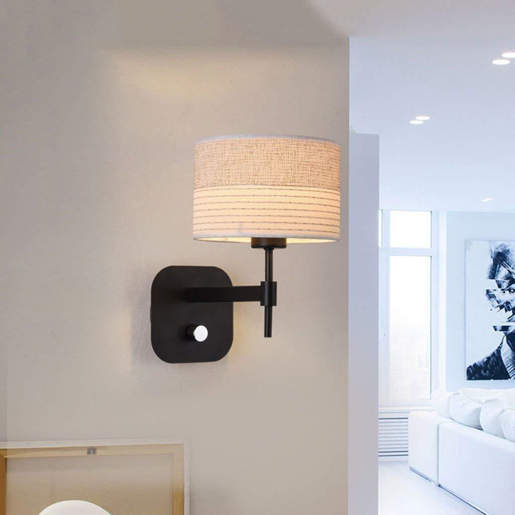 Mirror Lamps Home Wandmontierte Wandleuchte E27 - Schlafzimmer Nachttischlampe Wandlampe Stofflampe Shade Aisle Wall Lampe (Farbe   C)
