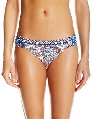 Hailey Paisley Side Sash Hipster Bikini Bottom, Multi, S ()