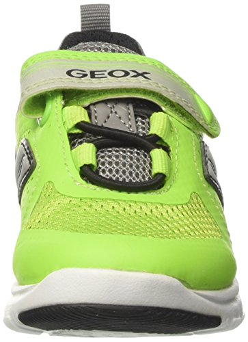 Geox J Xunday B, Zapatillas para Niños Gris (Lime/greyc2292)