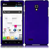 Blue Hard Case Snap On Rubberized Cover For LG Optimus L9 P769 (T-Mobile)