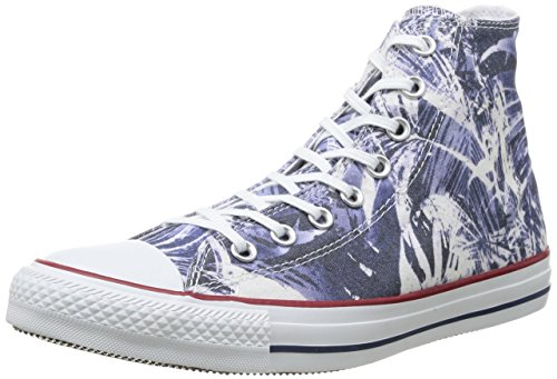 Converse Ct Print Hi, Herren Sneakers Blue Palms