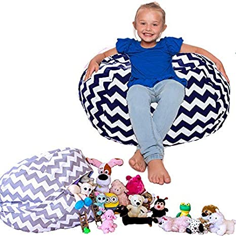 Amazing Lillys Love Kids Bean Bag Chair Cover Or For Soft Storage Navy Camellatalisay Diy Chair Ideas Camellatalisaycom