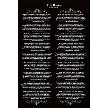 Robin Hood Merchandise Edgar Allan Poe The Raven Poem Cool Wall Decor Art Print Poster 12x18