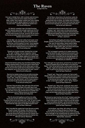 Edgar Allan Poe The Raven Poem Art Print Poster