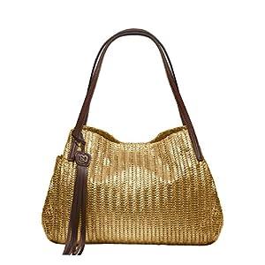 Eric Javits Luxury Fashion Designer Women's Handbag – Aura – Gold