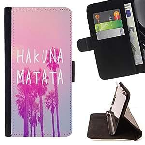 King Case - FOR Samsung Galaxy S6 EDGE - Fall in love at first sigh - Prima caja de la PU billetera de cuero con ranuras para tarjetas, efectivo Compartimiento desmontable y correa para la mu?eca