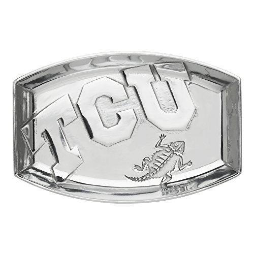 "Arthur Court Texas Christian University Catch All Tray Designs Aluminum 9"" inch Long"