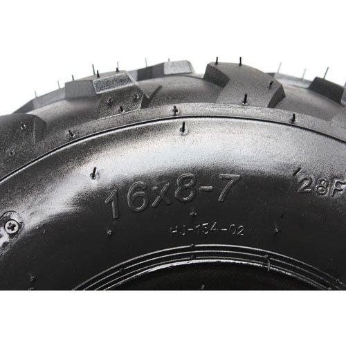 X-PRO 16x8-7 7 Black Left Front Rear Wheel Rim Tire Assembly for 110cc 125cc ATV 70mm