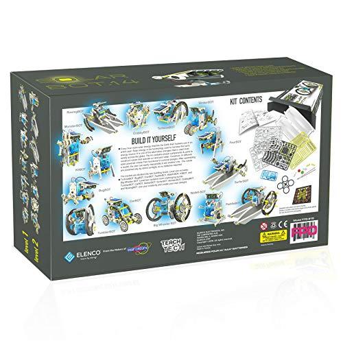 513v580uToL - Elenco Teach Tech SolarBot.14, Transforming Solar Robot Kit, STEM Learning Toys for Kids 10+