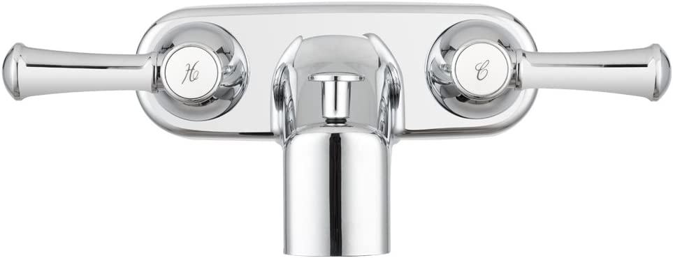 DF-SA110L-SN Dura Faucet Brushed Satin Nickel RV Tub /& Shower Faucet Valve Diverter with Hot//Cold Handles