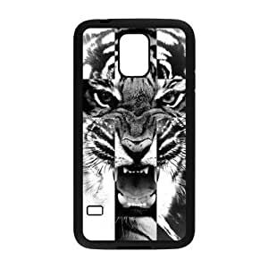 Black and White Tiger Roar Cross Protective Rubber Back Fits Cover Case for Samsung Galaxy S5 Kimberly Kurzendoerfer