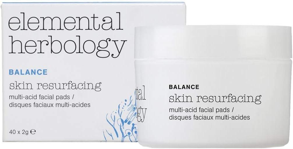 Tratamientos faciales de Elemental Herbology - Almohadillas faciales multiácidas para resurtir la piel, 40 unidades