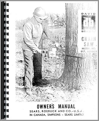 David Bradley 917-60003 Chainsaw Operators and Parts Manual (1950s)