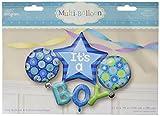 Arreglo de globos de calidad Premium, ideal para el nacimiento de un niño