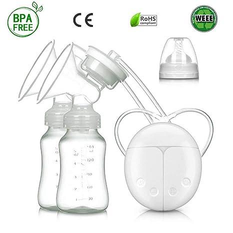 Bomba de lactancia materna dual, sin BPA, con certificación CE, masaje automático para prolactina postparto, botella de almacenamiento de leche segura