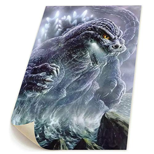 Little Monster Kaiju Godzilla HD Unframed Painted On Canvas Wall Decorations Modern Art for Child Bedroom -