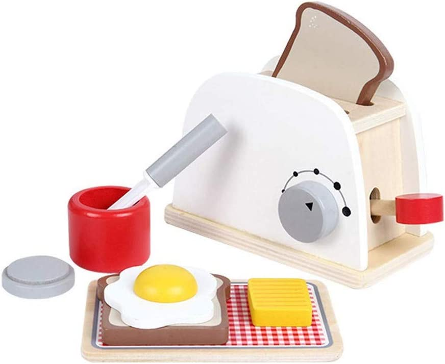 Wooden Toaster Simulation Kitchen Chef Toys Pretend Play Toy for Girl Boy Kid Gifts