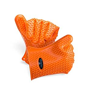 BlizeTec Oven Barbecue Gloves: Heat Resistant, Non-stick yet Waterproof (1 Pair)