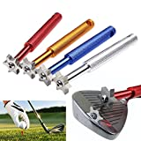 Elat Park 6 Blade Golf Club Groove Sharpener Iron & Wedge Club Face Cleaner Tool For V U Square 1Pc